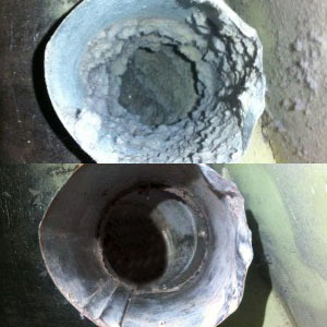 Before and After Cleaning Duct
