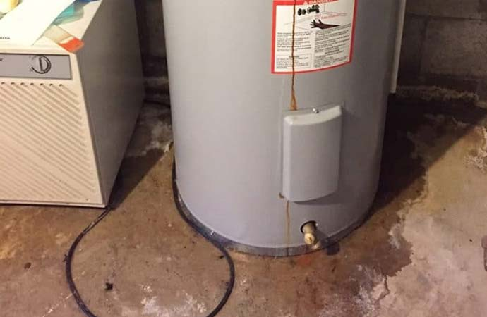 Leaked water heater